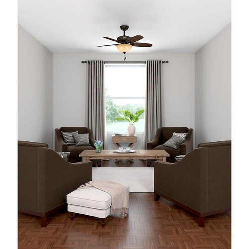 Hunter 52218 42 in. Builder Small Room New Bronze Ceiling Fan with Light image number 9