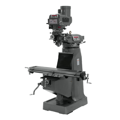 JET JTM-4VS 9 in. x 49 in. 3 HP 3-Phase R-8 Taper Variable Speed Vertical Milling Machine