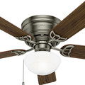 Hunter 53074 52 in. Low Profile III Plus Antique Pewter Ceiling Fan with Light image number 7
