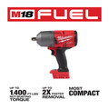 Milwaukee 2767-20 M18 FUEL High Torque 1/2 in. Impact Wrench with Friction Ring (Tool Only) image number 1