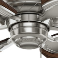 Casablanca 59524 31 in. Traditional Wailea Brushed Nickel Dark Walnut Outdoor Ceiling Fan image number 5