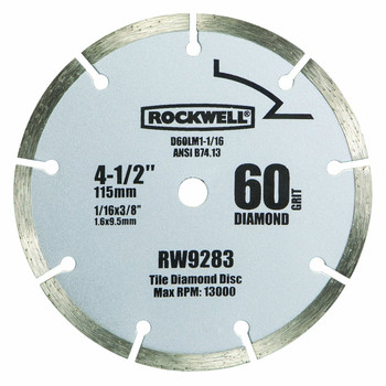 Rockwell RW9283 4-1/2 in. 60-Grit Diamond Compact Circular Saw Blade image number 0