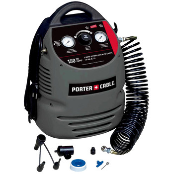Porter-Cable CMB15 0.8 HP 1.5 Gallon Oil-Free Fully Shrouded Hand Carry Compressor Kit