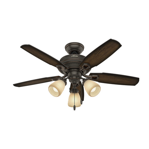 Hunter 52233 44 in. Ambrose Onyx Bengal Indoor Ceiling Fan image number 0