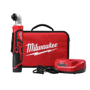 Milwaukee 2467-21 M12 Lithium-Ion 1/4 in. Right Angle Impact Driver Kit