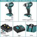 Makita XT284SX1 18V LXT Lithium-Ion Brushless Cordless Impact Driver / Impact Wrench Combo Kit (3 Ah) image number 1