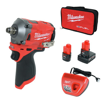 Milwaukee 2555-22 M12 FUEL Stubby 1/2 in. Impact Wrench with Friction Ring Kit