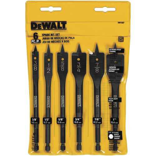 Dewalt DW1587 6-Piece Wood Boring Bit Set