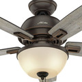 Hunter 52225 44 in. Donegan Onyx Bengal Ceiling Fan with Light image number 4