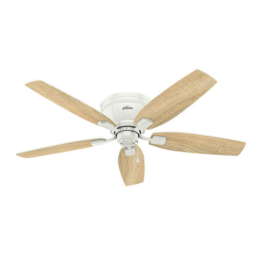 Hunter 53378 52 in. Kenbridge Fresh White Ceiling Fan with Light image number 8