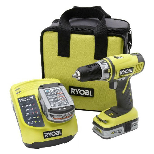 Factory Reconditioned Ryobi ZRP816 ONE Plus 18V Cordless 1/2 in. Drill Kit