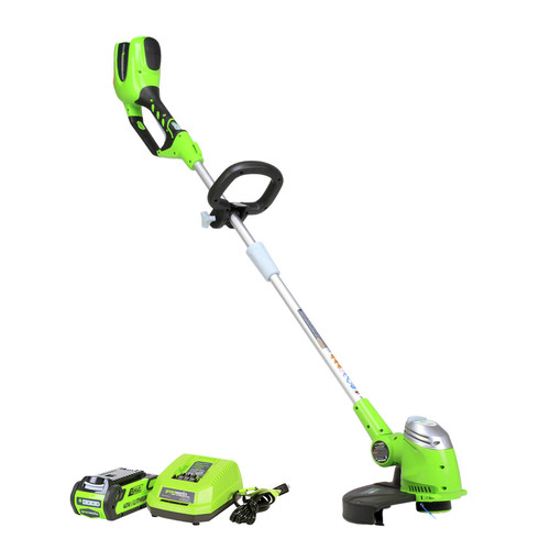 Greenworks 21302 40V GMAX Cordless Lithium-Ion 13 in. Straight Shaft String Trimmer