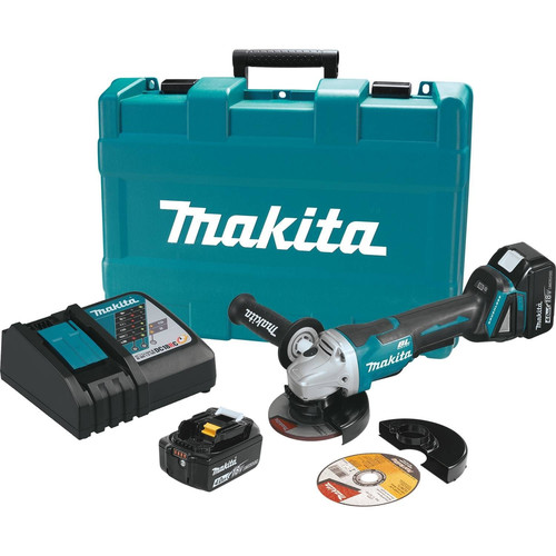 Makita XAG06MB LXT 18V 4.0 Ah Cordless Lithium-Ion Brushless 4-1/2 in. Paddle Switch Cut-Off/Angle Grinder Kit