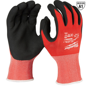 Milwaukee 48-22-8903B 12-Piece Cut Level 1 Nitrile Dipped Gloves - XL
