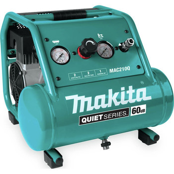 Makita MAC210Q Quiet Series 1 HP 2 Gallon Oil-Free Hand Carry Air Compressor
