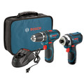 Factory Reconditioned Bosch CLPK22-120-RT 12V Cordless Lithium-Ion 3/8 in. Drill Driver and Impact Driver Combo Kit