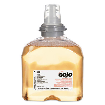 GOJO Industries 5362-02 Premium Foam Antibacterial Hand Wash, Fresh Fruit Scent, 1200ml, 2/carton