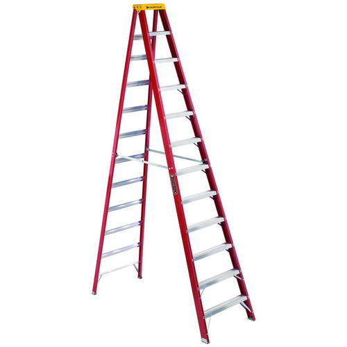 Louisville L-3016-12 12 ft. Type IA Duty Rating 300 lbs. Load Capacity Fiberglass Step Ladder image number 0