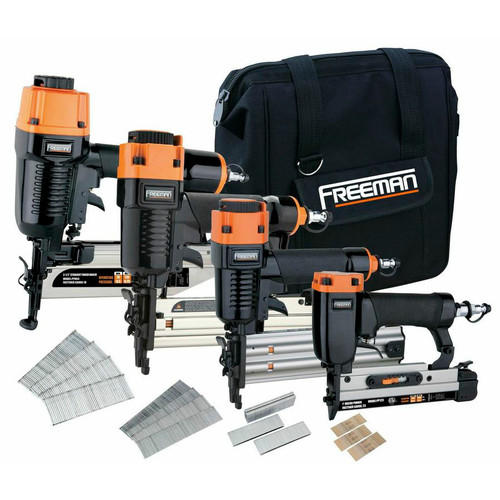Freeman P4FNCB Finishing Stapler and Nailer 4-Tool Combo Kit image number 0