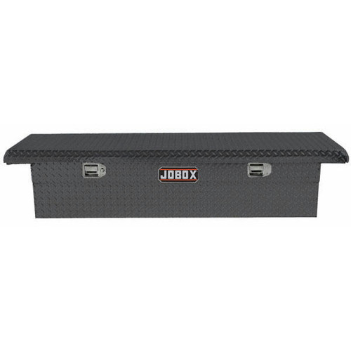 JOBOX PAC1357002 Aluminum Single Lid Low-Profile Full-size Crossover Truck Box (Black) image number 0