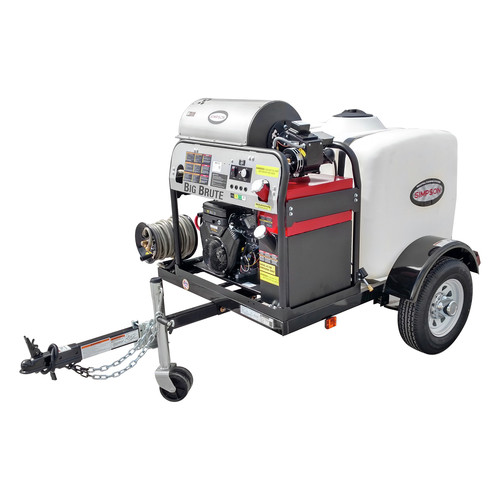 Simpson 95006 Trailer 4000 PSI 4.0 GPM Hot Water Mobile Washing System Powered by VANGUARD image number 0