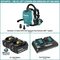 Makita XCV10PTX 18V X2 LXT (36V) Lithium-Ion Brushless 1/2 Gallon Cordless Backpack Dry Dust Extractor Kit with HEPA Filter, AWS Capable (5 Ah) image number 1