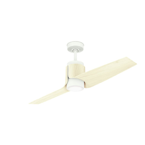 Casablanca 59337 Wi-Fi Enabled HomeKit Compatible 54 in. Aya Porcelain White Ceiling Fan with Light and Integrated Control System-Wall Control image number 0