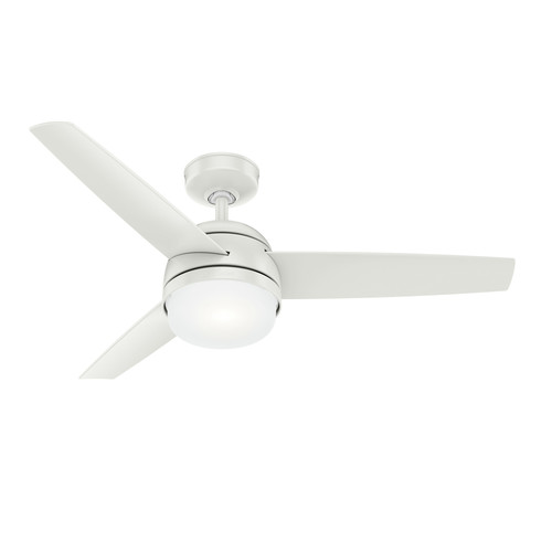Hunter 54211 48 in. Midtown Fresh White Ceiling Fan with LED Light Kit and Remote image number 0