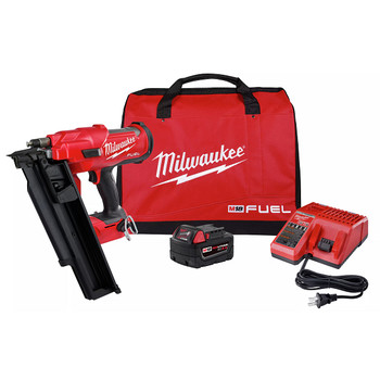 Milwaukee 2744-21 M18 FUEL 21-Degree Cordless Framing Nailer Kit (5 Ah)