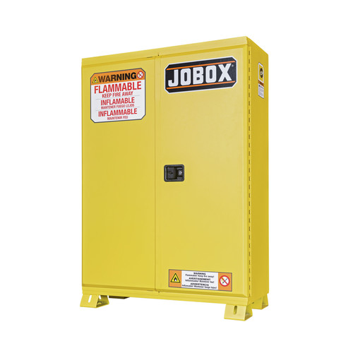 JOBOX 1-859990 90 Gallon Heavy-Duty Safety Cabinet (Yellow)