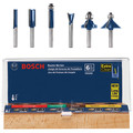 Bosch RBS006 1/4 in. Shank Carbide-Tipped Multi-Purpose 6-Piece Router Bit Set image number 0