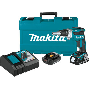 Makita XSF04R 18V LXT 2.0 Ah Lithium-Ion Compact Brushless Cordless 2,500 RPM Drywall Screwdriver Kit image number 0