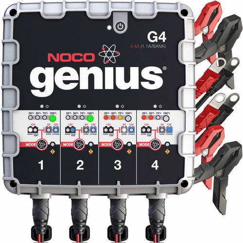 NOCO G4 Genius 6/12V 1,100mA 4-Bank Battery Charger image number 0