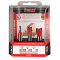 Freud 89-670 3 Piece Undersize Plywood 1/2 in. Shank Router Bit Set