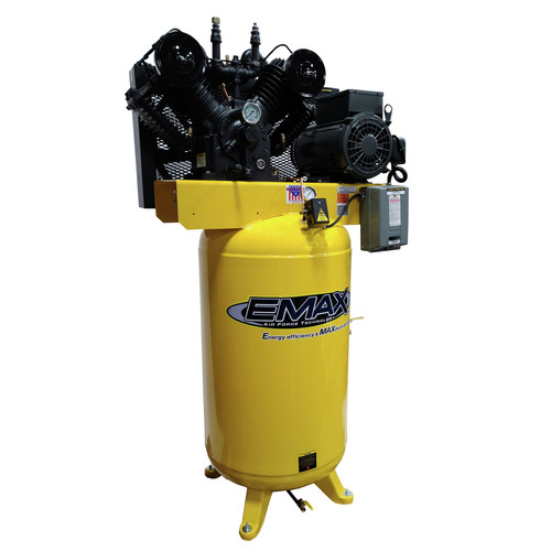 EMAX PE10V080V1 80 Gallon 10 HP 2-Stage 1-Phase Vertical Air Compressor