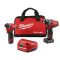 Milwaukee 2596-22 M12 FUEL 2-Tool Combo Kit: 1/2 in. Drill Driver and 1/4 in. Hex Impact Driver