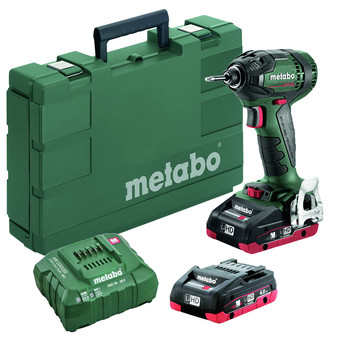 Metabo 602396520 SSD 18 LTX 200 18V 1/4 in. Hex Brushless Impact Wrench kit with 4.0Ah LiHD Batteries image number 1