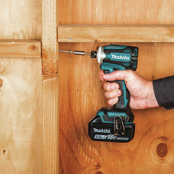 Makita XDT16T 18V LXT Lithium-Ion Brushless Cordless Quick-Shift Mode 4-Speed Impact Driver Kit (5 Ah) image number 9