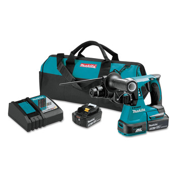 Makita XRH01T 18V LXT Lithium-Ion Brushless 1 in. Cordless Rotary Hammer Kit (5 Ah) image number 0