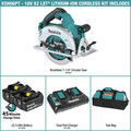 Makita XSH06PT1 18V X2 LXT Lithium-Ion (36V) Brushless Cordless 7-1/4 in. Circular Saw Kit with 4 Batteries (5.0Ah) image number 1