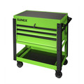 Sunex 8035XTLG 3 Drawer Slide Top Utility Cart with Power Strip (Lime Green) image number 0
