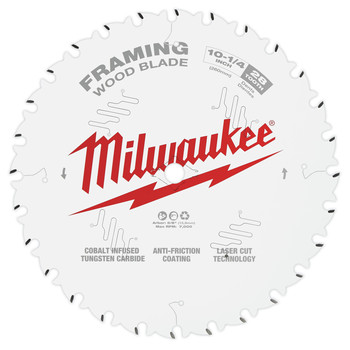 Milwaukee 48-40-1038 10-1/4 in. 28T Framing Circular Saw Blade image number 0