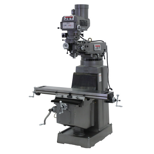 JET JTM-1050 230/460V Variable Speed Milling Machine with Newall DP700 3-Axis (Knee) DRO and X-Axis Powerfeed image number 0