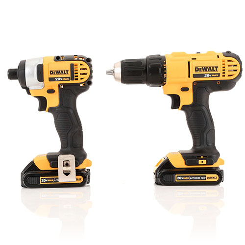 Dewalt DCK240C2 20V MAX Cordless Lithium-Ion Drill Driver and Impact ...