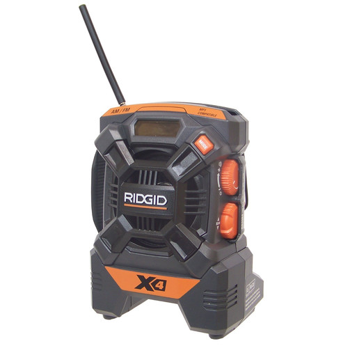 Factory Reconditioned Ridgid R84084 X4 18V Cordless Mini Jobsite AM/FM Radio