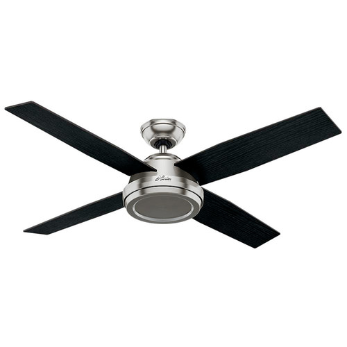Hunter 59249 52 in. Dempsey Brushed Nickel Ceiling Fan with Remote image number 0