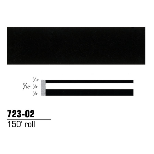 3M 72302 Scotchcal Striping Tape, Black, 5/16 in. x 150 ft. image number 0