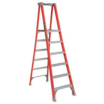 Louisville FXP1706 6 ft. Type IA Duty Rating 300 lbs. Load Capacity Fiberglass Platform Step Ladder