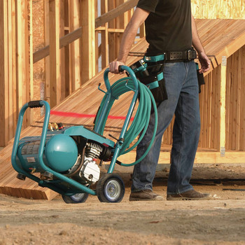 Factory Reconditioned Makita MAC5200-R 3.0 HP 5.2 Gallon Oil-Lube Wheeled Dolly-Style Air Compressor image number 14