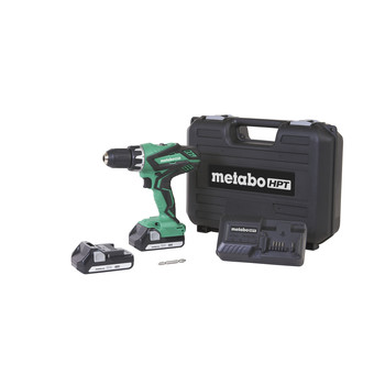 Factory Reconditioned Metabo HPT DS18DGLM 18V 1.3 Ah Cordless Lithium-Ion 1/2 in. Drill Driver Kit